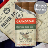 Personalised Nostalgia Milk Chocolate Bar