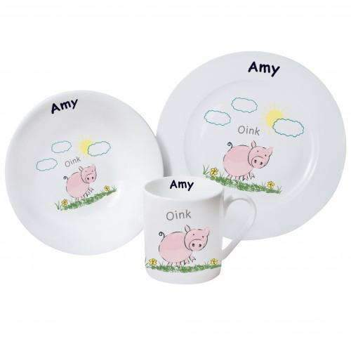 Personalised Oink Breakfast Set Memento