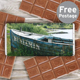 Personalised Old Barge Milk Chocolate Bar