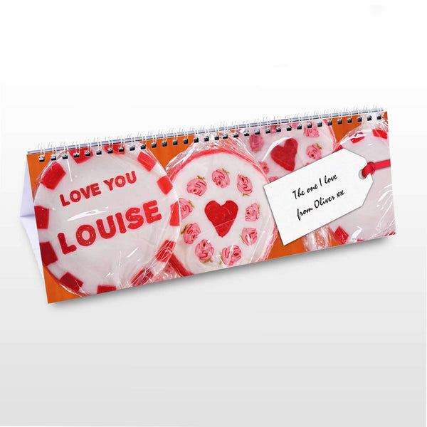 Personalised One I Love Desk Calendar