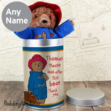 Personalised Paddington Bear in a Tin