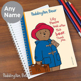 Personalised Paddington Bear Please look after me A5 Notebook