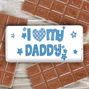 Personalised Patterns I Heart My Milk Chocolate Bar