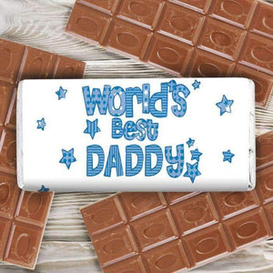 Personalised Patterns World's Best Milk Chocolate Bar