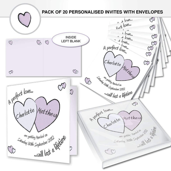 Personalised Perfect Love Wedding Invitations