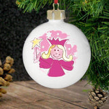 Personalised Pink Angel Bauble