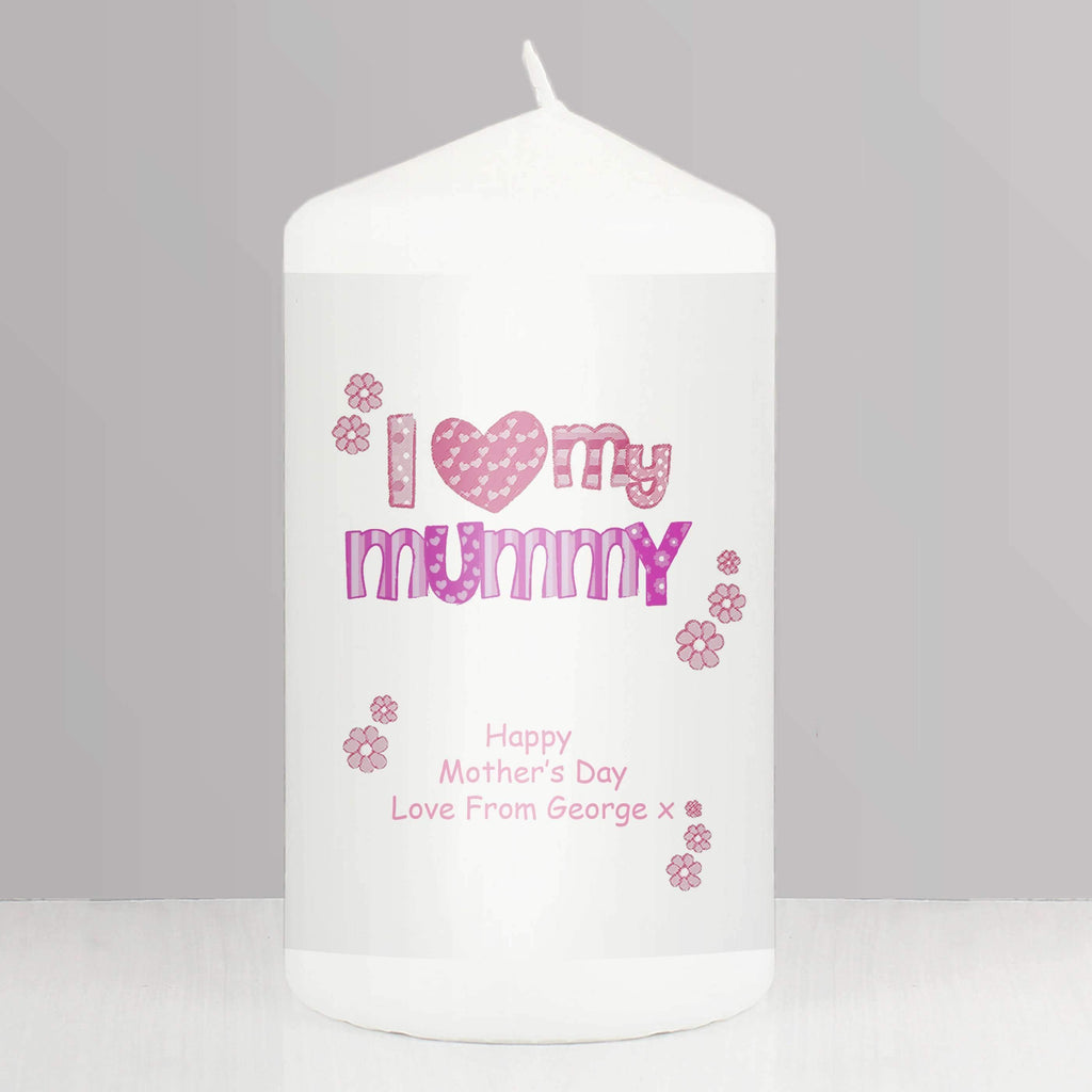 Personalised Pink Patterns I Love My Candle Memento