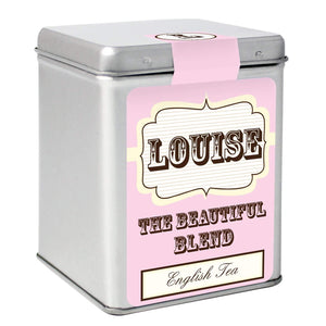 Personalised Pink Vintage Tea & Tin