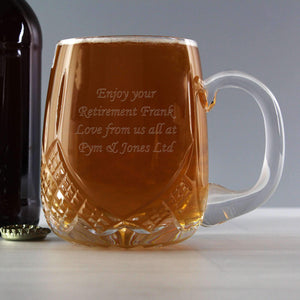 Personalised Pint Crystal Round Tankard