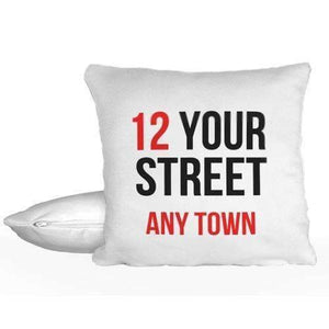Personalised Printed Address Cushion