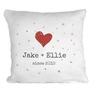 Personalised Printed Heart & Stars Cushion
