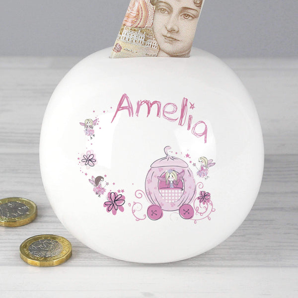 Personalised Pumpkin Fairy Money Box