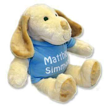 Personalised Puppy Rufus The Dog Teddy Bear