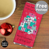 Personalised Purple Ronnie Christmas Female Milk Chocolate Bar