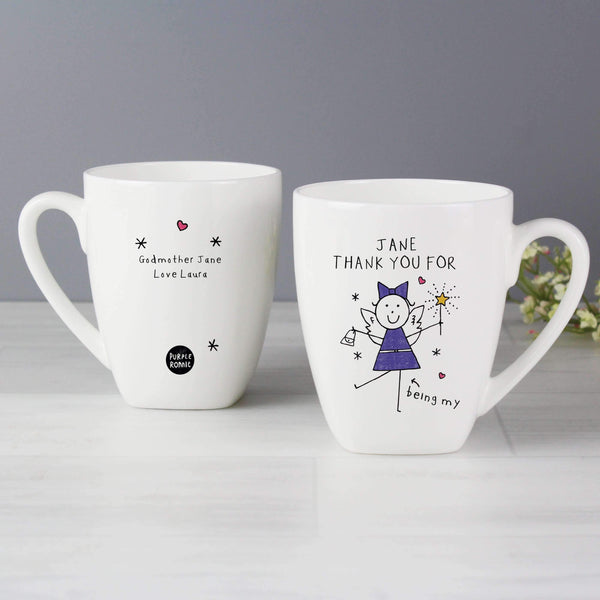 Personalised Purple Ronnie Fairy Latte Mug