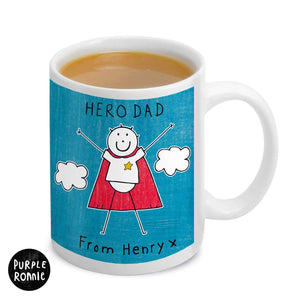 Personalised Purple Ronnie Super Hero Mug For Him