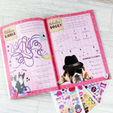 Personalised Rachael Hale Adorable Animals Activity Book With Stickers