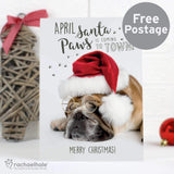 Personalised Rachael Hale Santa Paws Christmas Bulldog Card