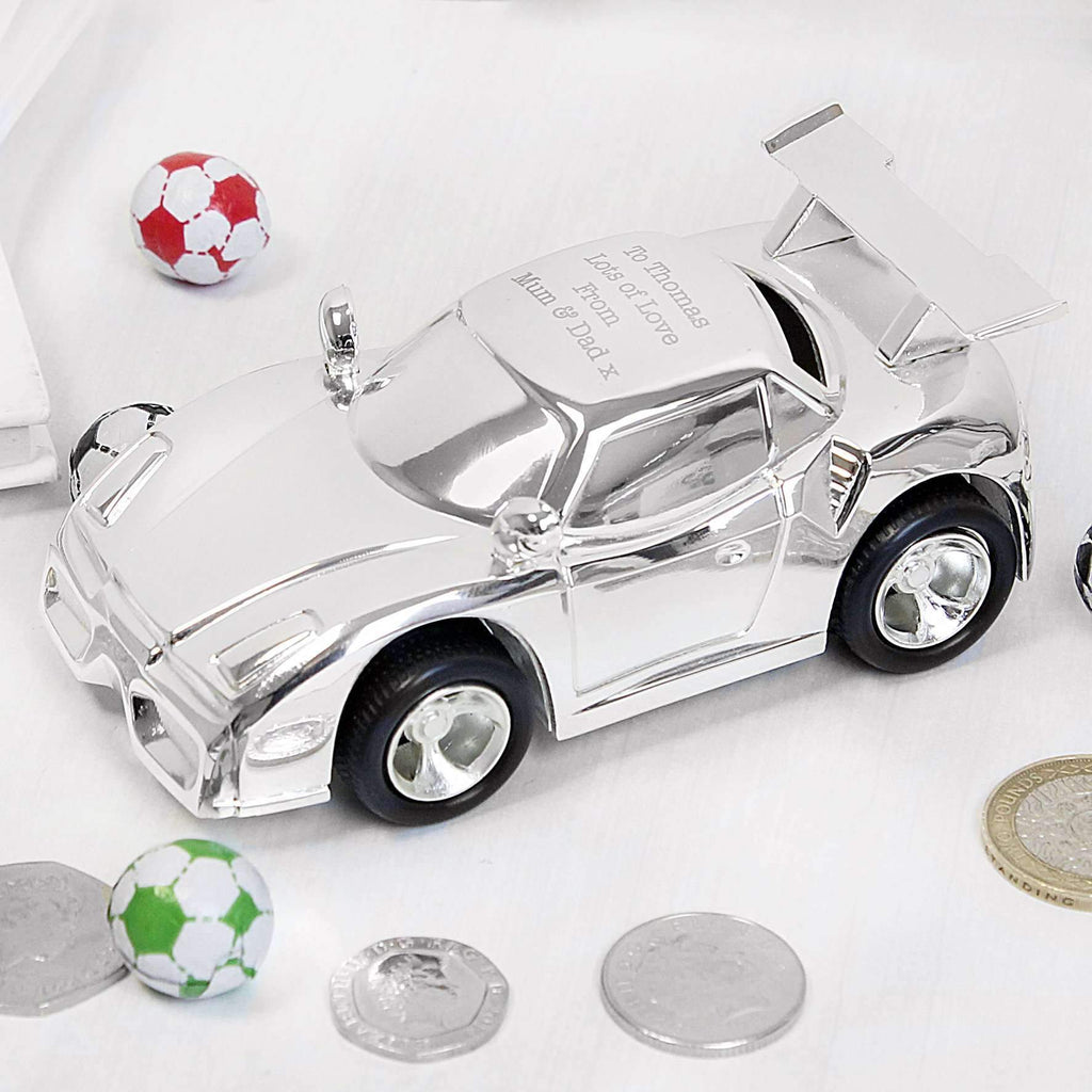 Personalised Racing Car Money Box