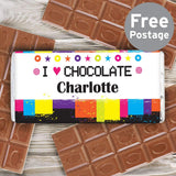 Personalised Rainbow Milk Chocolate Bar