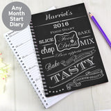 Personalised Recipes A5 Diary Memento