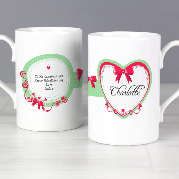 Personalised Red Ribbon Slim Mug