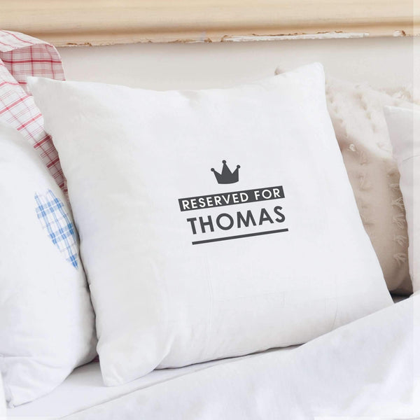 Personalised Reserved for... Cushion Cover