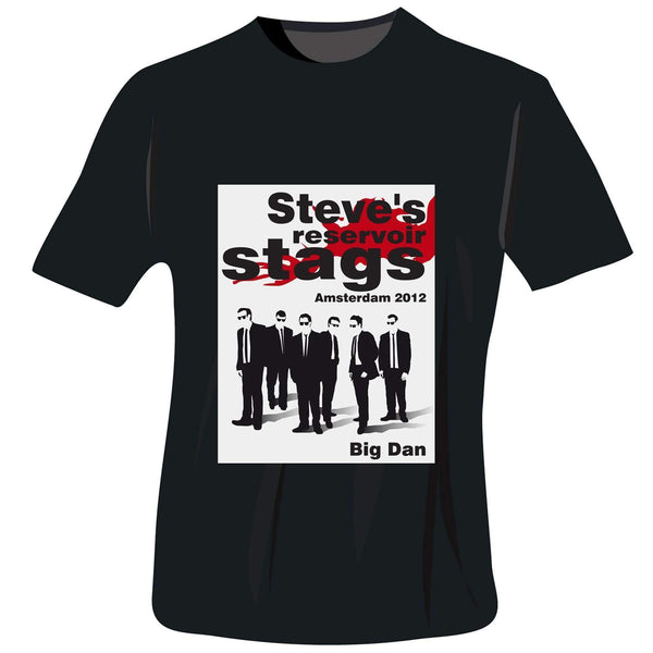Personalised Reservoir Stags T-Shirt - Black - Extra Extra Large