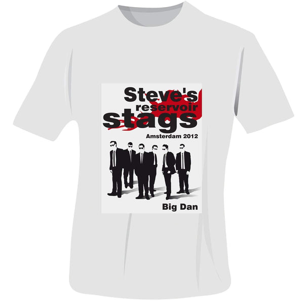 Personalised Reservoir Stags T-Shirt - White - Medium