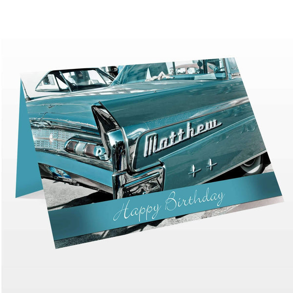 Personalised Retro Car Card