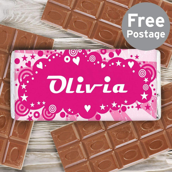 Personalised Retro Milk Chocolate Bar