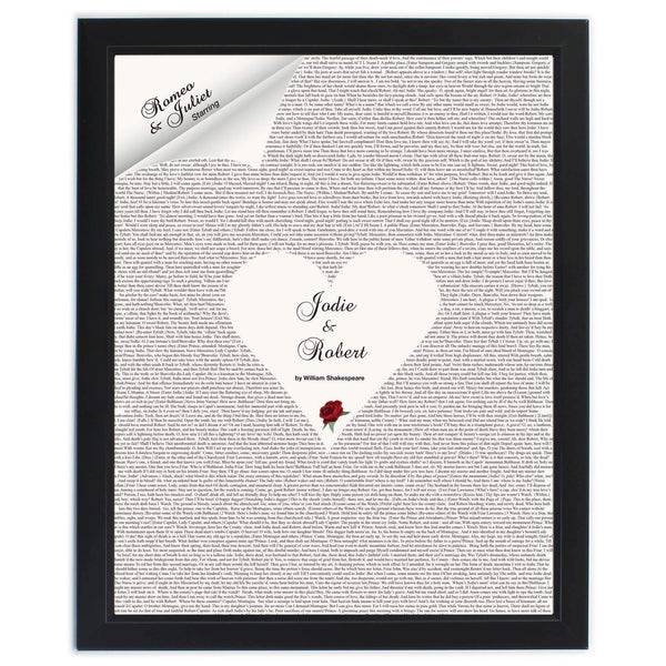 Personalised Romeo & Juliet Poster Frame