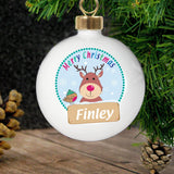 Personalised Rudolph Bauble
