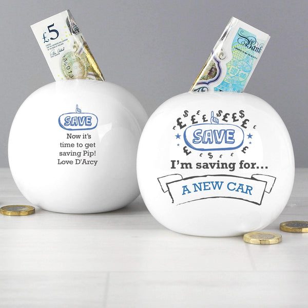 Personalised Saving For Money Box