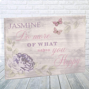 Personalised Secret Garden Canvas