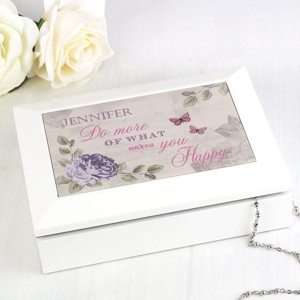 Personalised Secret Garden Jewellery Box