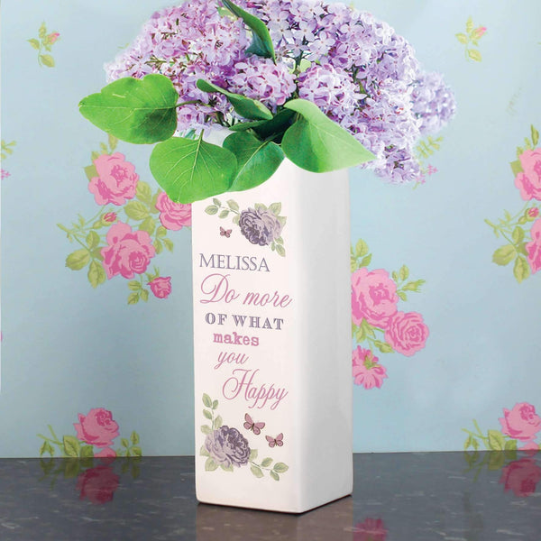 Personalised Secret Garden Square Vase