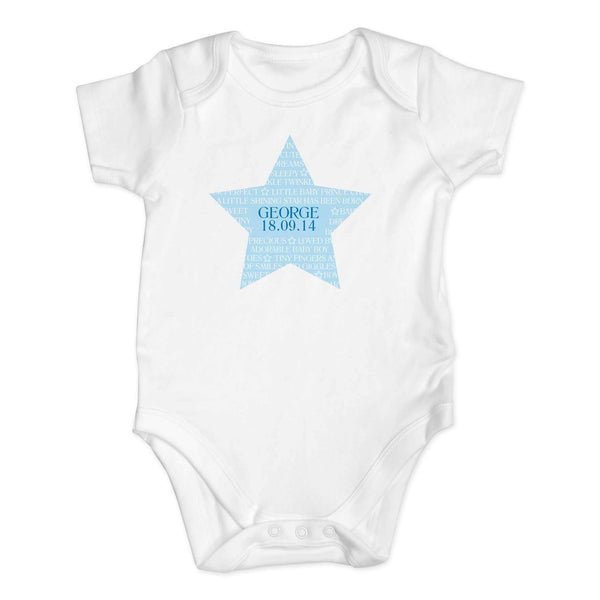 Personalised Shining Star 3-6 Months Baby Vest