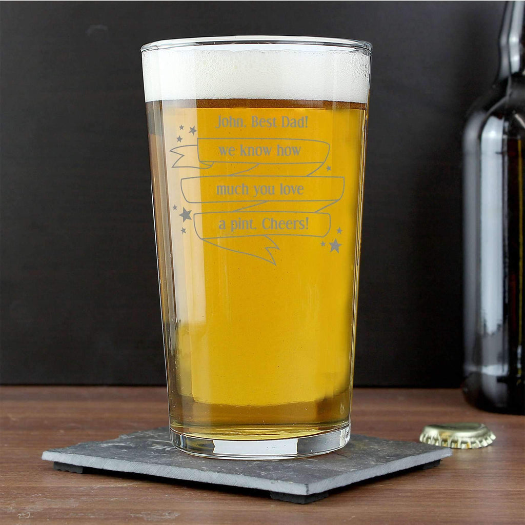 Personalised Shining Star Pint Glass
