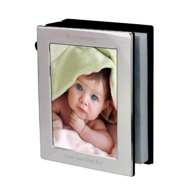 Personalised Silver 4x6 Photo Frame Album