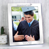 Personalised Silver 8x10 Graduation Photo Frame Memento