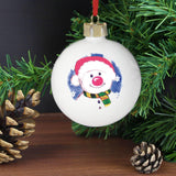 Personalised Snowman Red Nose Bauble
