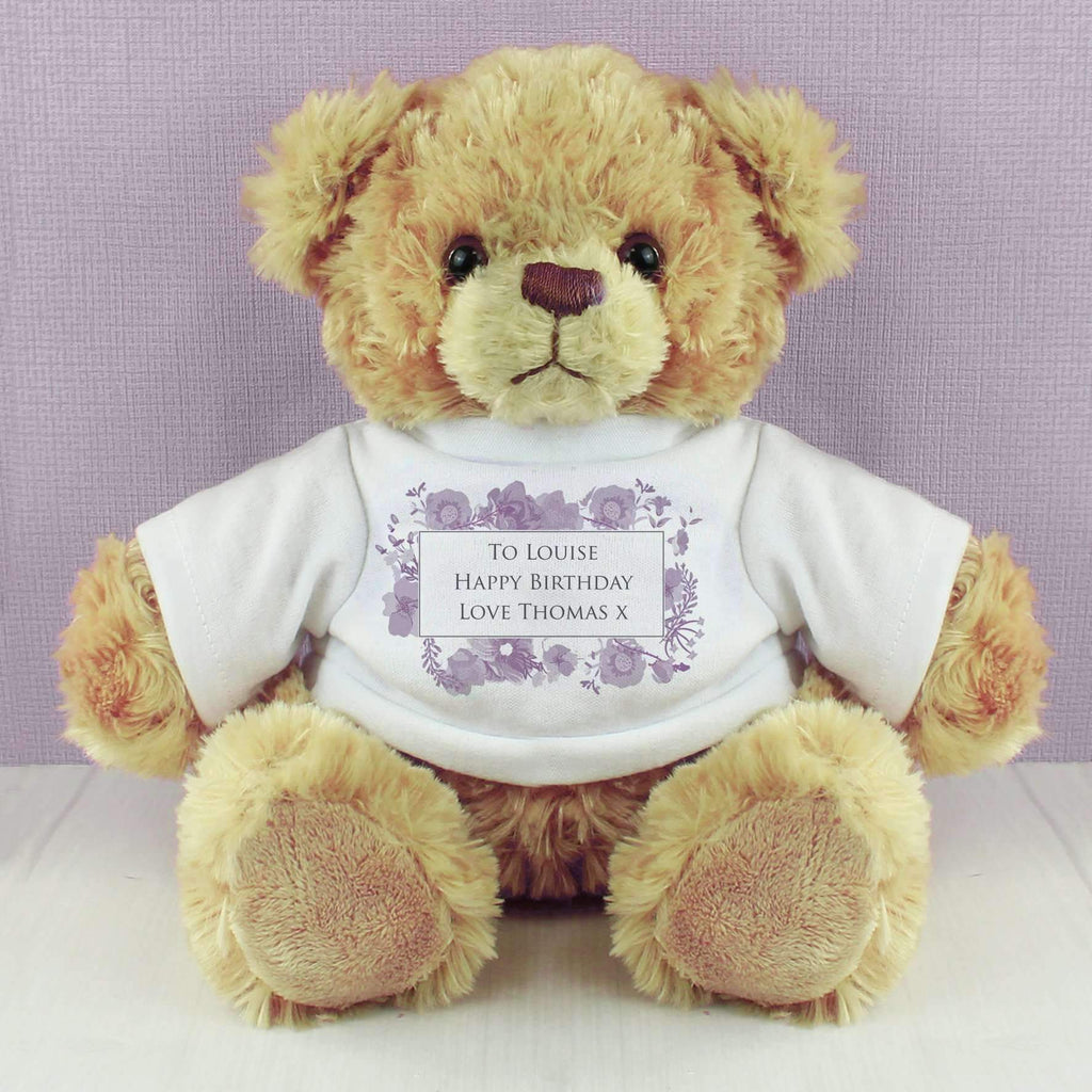 Personalised Soft Watercolour Teddy Memento
