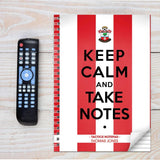 Personalised Southampton Keep Calm A4 Notebook Memento