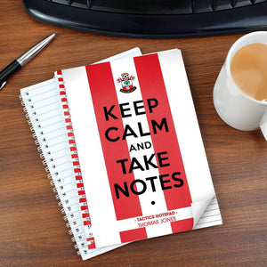 Personalised Southampton Keep Calm A5 Notebook