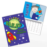 Personalised Space A4 Wall Calendar