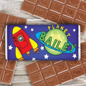 Personalised Space Milk Chocolate Bar