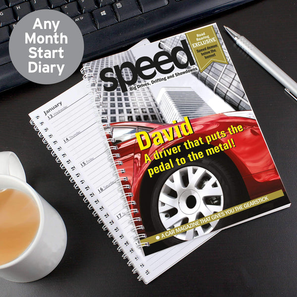 Personalised Speed A5 Diary