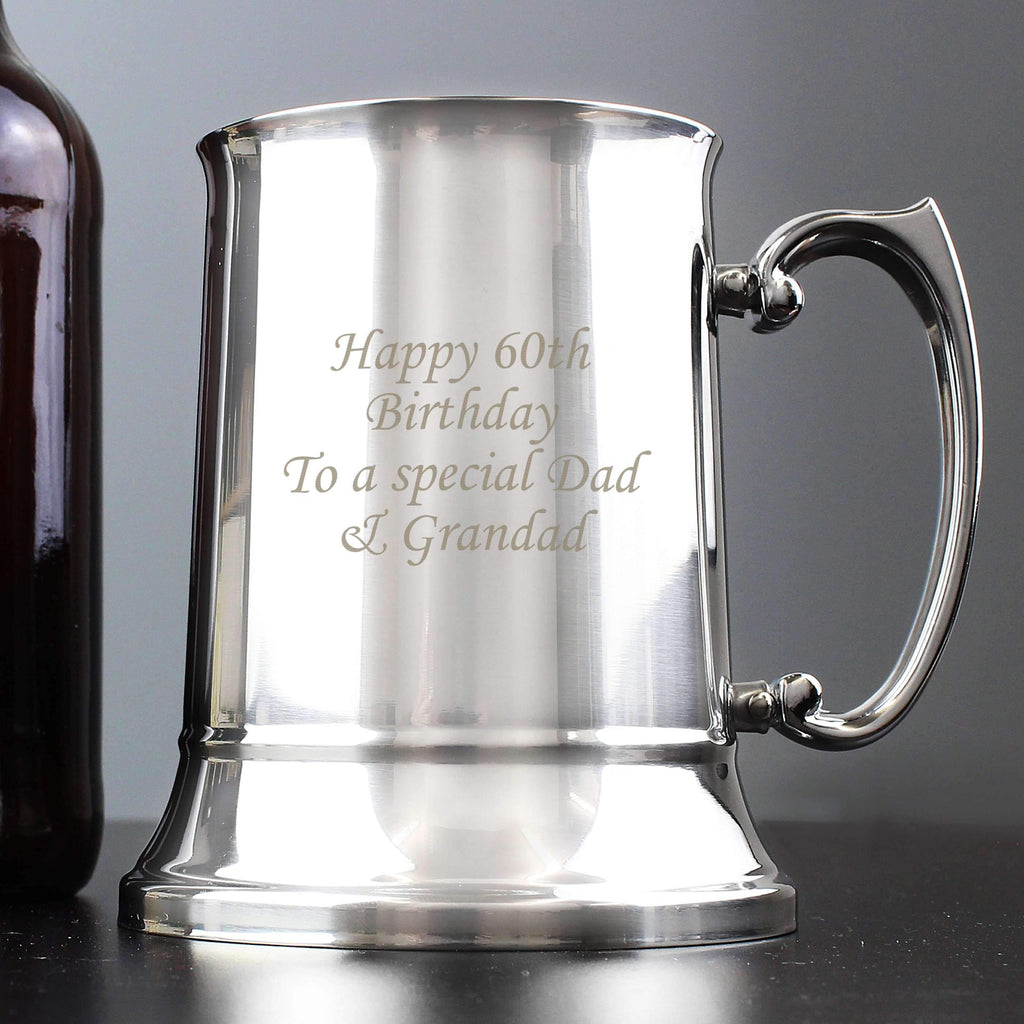 Personalised Stainless Steel Tankard Memento