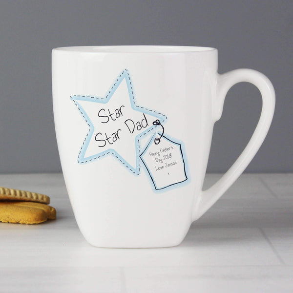 Personalised Star Stitch Latte Mug